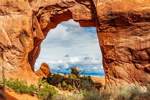 Utah-Arches National Park-Devils Garden-Pine Tree Arch Wallpaper Mural