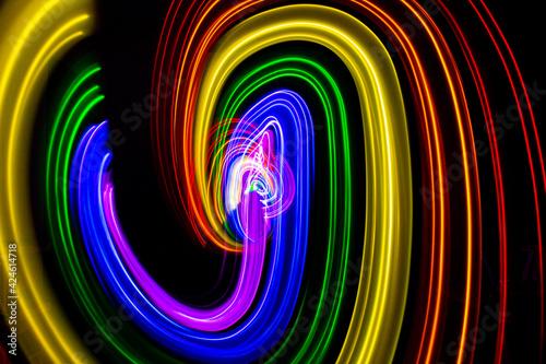 3D illustration or 3D rendering rainbow colors Fototapet