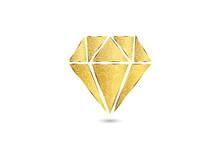 Gold Diamond Logo Swirly Floral Brilliant Sparkles Jewelry Sapphire Gems Luxury Symbol Image Vector Isolated On Black Background.