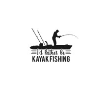 I'd Rather Be Kayak Fishing, Beach Quotes, Canoe Vector, Kayak, Kayak T-shirt Design, Fishing