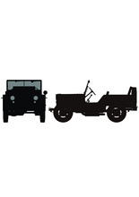 ジープ Jeep US Army Vehicle Silhouette