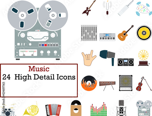 Obraz Music Icon Set - fototapety do salonu