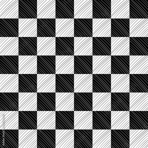 Vászonkép Chessboard And Diagonal Lines