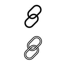 Link Icon Vector Set. Web Address Illustration Sign Collection. Website Symbol Or Logo.
