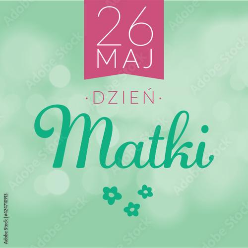 Fototapeta Dzień Matki. Grafika prosta na baner kartkę z życzeniami. Życzenia na dzień Matki. obraz