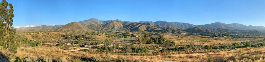 Panorama view of the Sierra Nevada mountain range in Southern California.