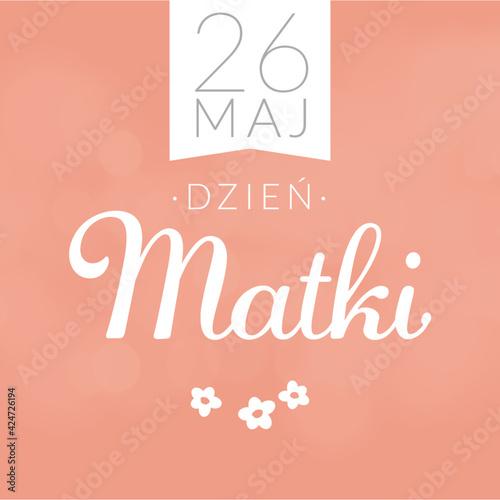 Dzień Matki kartka baner z życzeniami. Grafika wektor. - fototapety na wymiar