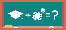 Academic Square Cap Plus Coronavirus Germ - Math Example On Blackboard