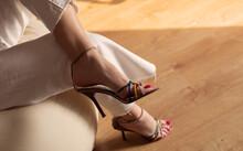 Beautiful Female Legs In Summer Sandals
