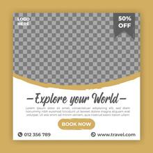 Travel Tour Promotion Social Media Banner Post Template