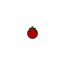 Cute Tomato Cartoon Character Vector Illustration Design. Outline, Cute, Funny Style. Recomended For Children Book, Cover Book, And Other.