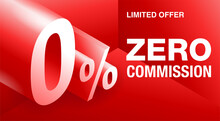 Zero Commission Special Offer 3D Red Banner
