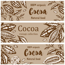 Vintage Horizontal Banners With Cocoa