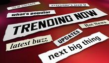 Trending Now Hot Buzz Viral Content News Communications Headlines 3d Illustration