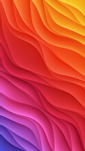 Red Pink Yellow Color Abstract Flower Background. Bright Color Pattern Of Colors 3d Wallpaper Delicate Curved Shapes