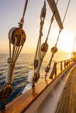 A sailing ship at sea