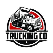 Trucking Company Logo. Premium Badge Logo Vector