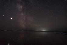 Milky Way Lake Sky Stars Reflections Night