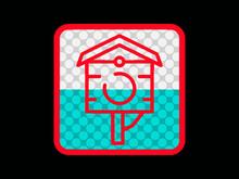 Bird House Retro Icon Vintage 80s 90s Retro Style Logo Bird, House, Icon, Illustration, Nature, Vector, Design, Symbol, Home, Sign, Animal, Nest