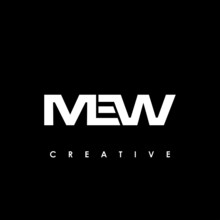 MEW Letter Initial Logo Design Template Vector Illustration