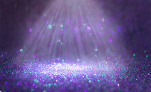 Modern Dark Purple, Lilac, And Blue Glitter Sparkle Confetti Background For Happy Birthday Party Invite Or Other Holiday