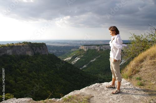 Obraz na plátne Vacation activity Take a Hike Day