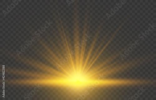 Obraz na plátně Realistic sunrise lighting
