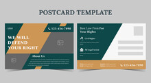 We Will Defend Your Right Postcard, Law Firm Postcard