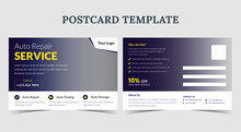 Auto Repair Services Postcard, Auto Repair Postcard Template