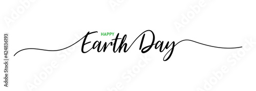 Fototapeta Earth day. Earth day lettering. Lettering poster with text earth day. Vector obraz