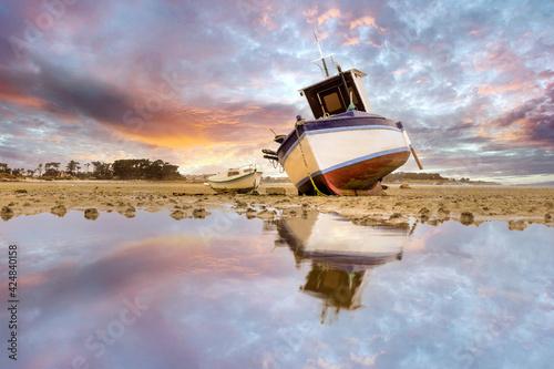 Marée basse à Roscoff Fototapeta