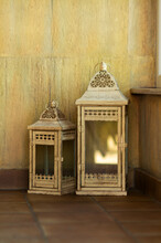 Lanterns Standing On The Tiles