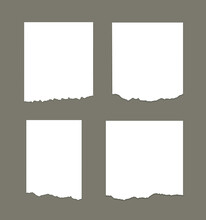 White Torn Stripes Paper Different Scraps Set Notepad Notes