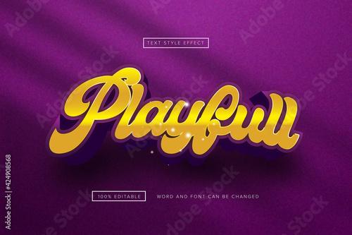 Purple playfull text effect editable premium free download Fototapeta
