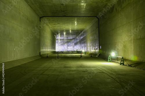 Fotografia 大阪港で工事中の夢咲トンネル(大阪市・大阪)