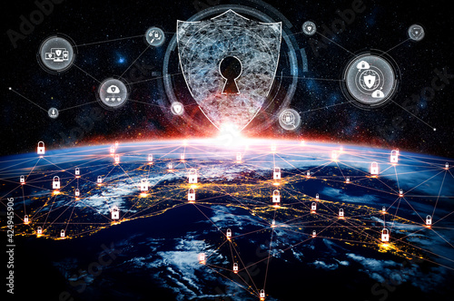 Tela Cyber security technology and online data protection in innovative perception
