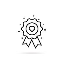 Favorite Icon Like Warranty Rosette