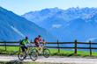canvas print picture - Mit dem Mountainbike unterwegs in den Montafoner Bergen nahe Schruns