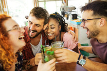 Woman Friendship Fun Friend Cafe Smiling Lifestyle Happy Drink Man Celebration Cheerful Laughing Toast Drink