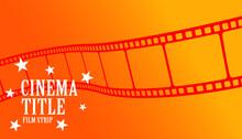 Cinema Tile Movie Film Strip Orange Background