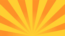 Sun Rays Background. Yellow-orange Rays. Vector Illustration