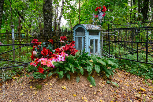 Canvastavla At the Old Believers' cemetery, Rzhev, Tver region, Russian Federation, Septembe
