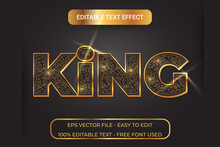 Gold Text Effect With Glitter, Easy To Edit And Full Editable.