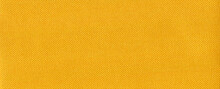 High Resolution Yellow Fabric Texture, Wide View.