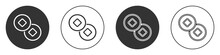 Black Chinese Yuan Currency Symbol Icon Isolated On White Background. Coin Money. Banking Currency Sign. Cash Symbol. Circle Button. Vector