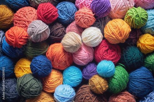 Obraz Colorful balls of wool - fototapety do salonu