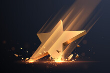 Gold Star Hit With Sparks