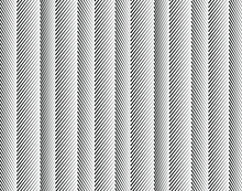Wave Design Black And White. Digital Image With A Psychedelic Stripes. Argent Base For Website, Print, Basis For Banners, Wallpapers, Business Cards, Brochure, Banner