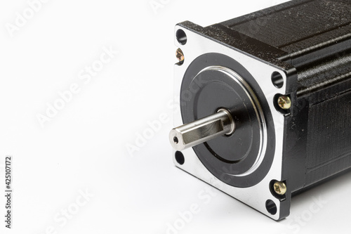 Obraz na plátne Stepper Motor for CNC machining with copy space