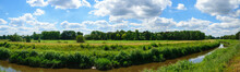 Panoramic Landscape With Clouds From Belgium